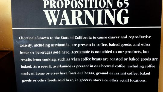 Acrylamide. Death by coffee?